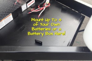Off Grid Battery Rack (Up to 4 Batteries and Box Not Included)
