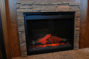 Bedroom Fireplace with Rock Surround (270RKS)
