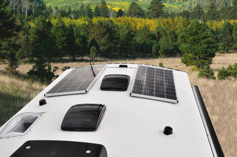 Off Grid Roof Mounted Solar Port (up to 3 - 170 Watt Panels)