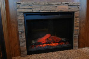 Living Room Fireplace with Rock Surround (F26RKS, F28RKS, F30RKS, F30RLS)