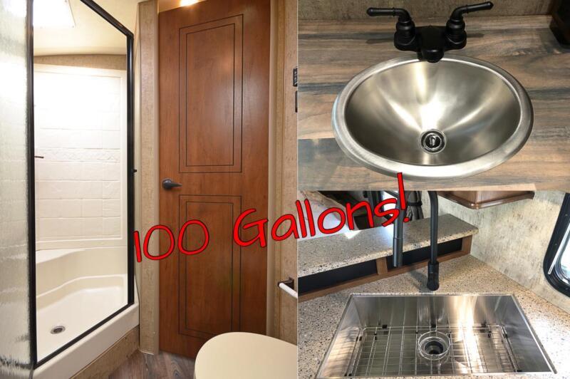100 Gallons Fresh Water Capacity